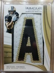 2018 Panini Michael Thomas Immaculate Collection Nameplate Nobility 5/6 Letter
