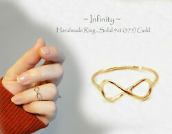 Gold Band Rings 1 Mm 375 Gold Midi Rings 9k Gold Chevron Ring Infinity Ring