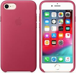 Genuine Apple Leather Case Cover For New Iphone Se 2020 Iphone 8/7 Pink Fuchsia