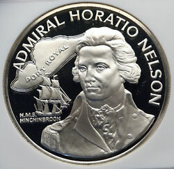 1976 Jamaica Admiral Horatio Nelson Royal Navy Silver 10 Dollars Coin Ngc I85818