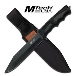 New Mtech Usa Mt-086 Tactical 12.25 Hunting Fixed Blade Knife With Nylon Sheath