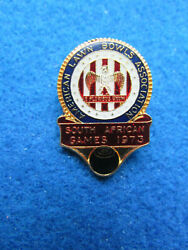 Vintage Bowling Badge - American Lawn Bowls Association South African Games 1973