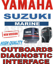 Full High Quality Yamaha And Suzuki Outboard Usb Yds Sds Boat Diagnostic Kit Cable