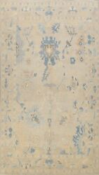 Geometric Floral Vegetable Dye Oushak Turkish Area Rug Hand-knotted Wool 10x13