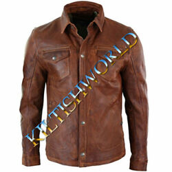 2021 Buy New Men Taylor Swift Shirt Jacket Brown Real Soft Genuine Leather Shirt