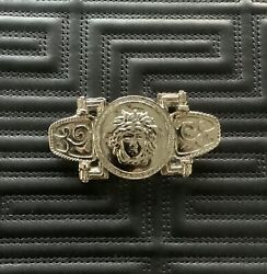 Gianni Versace Medusa Brooch Silver Tone Bondage Collection From 1992