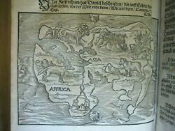 Rare✅1566 Martin Luther Works_world Map_lrg Folio_protestant_sold Sothebys 7665