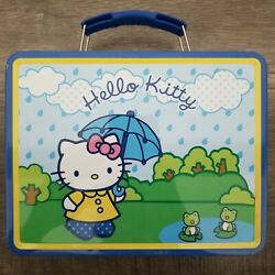 Hello Kitty Lunch Box Metal Vintage Never Used Good Condition