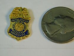 Department Of Justice United States Marshal Mini Badge Pin Style 183