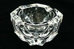 Collectible French France Baccarat Crystal Cigarette Cigar Pipe Ashtray And Box