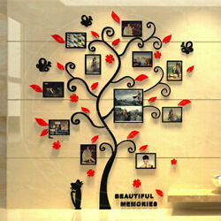 Large Family Tree Wall Decals 3D DIY Photo Frame Wall Stickers Mural Home Decor