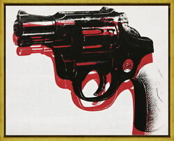 Framed Andy Warhol Gun1 Giclee Canvas Print Paintings Poster Reproduction