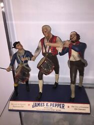 1940's James Pepper Whiskey Advertising Figure Back Bar Counter Store Display