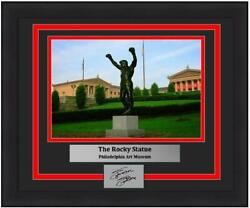 Rocky Statue Philadelphia Art Museum 8x10 Framed Photo With Engraved Autograph
