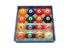 Size 2-1/4 In. Full Set 16 Pool Balls Delta Deluxe Ball Set W/ Blue Dot Cue Ball