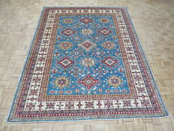 8and0393 X 10and0397 Hand Knotted Blue Fine Super Kazak Shirvan Oriental Rug G8881