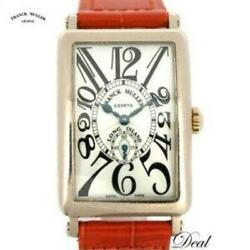 Franck Muller Long Island 950s6 Wg Made Ladies Leather Silver Dial [e0828]