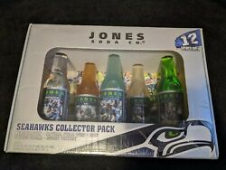 Jones Soda Co. Seattle Seahawks Collector Pack 5-12 Fl. Oz Bottles Rare And Sealed