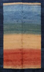 Vintage Striped Gabbeh Hand-knotted Area Rug Living Room Oriental 9x12 Carpet
