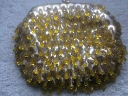 Vtg Beaded Evening Bag Clutch Gold Clasp With Gold Bling Sequins Bangles 5 19 a4 $4.00