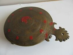 Vintage Traditional Brass Decorative Plate For Temple Worship Use .