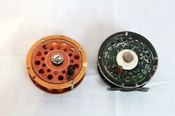 2 Vintage Fishing Fly Wheels Reels - Dam Quick 25 And Shakespeare Russel 1886