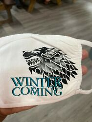 Game Of Thrones Custom Printed White, Black Or Kids Mask, Washable, 100 Cotton