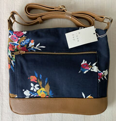 Womens Crossbody Purse Bag 12quot; x 10quot; Blue Floral $15.55