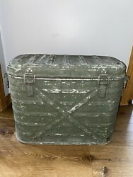 Vtg Us Military Wyott Corp 1982 Food Cooler Metal Storage Insulated Container