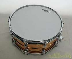 Used Yamaha Metal Snare Drum Sd6465 Evans Musical Instrument