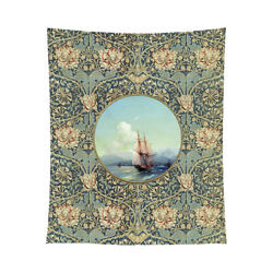 Antique Seascape Vintage Image 50x60 Tapestry Or Tablecloth