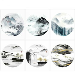 Modern Living Room Decoration Mountain Landscape View Oil Painting Numbers Kit