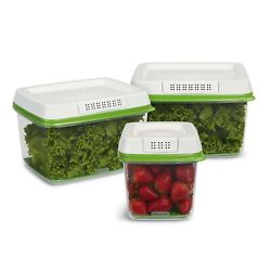 Rubbermaid Freshworks Produce Saver Food Storage Containers 3-piece Set