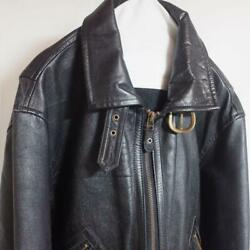 Horse Leather Issey Miyake Jacket Pilot Black Size M Condition Good Very Rare 3f