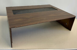 Pioneer Sx-636 Top Case Cover Walnut Wood And Mesh Vent Screen Clean No Damage