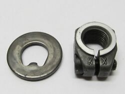 Original Porsche 914 Front Spindle Clamping Nut And Washer Right Side