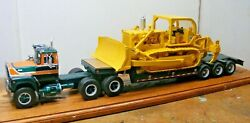 R Mack Tractor Lowbed And Ih Td-25 Dozer Load 1/25th Scale By A.i.m.