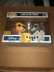 New Funko Pop Disney 2 Pack Lady And The Tramp Hot Topic Exclusive Vaulted