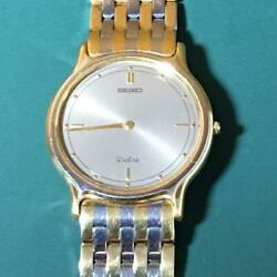Seiko Dolce 9530-6000 Vintage Stainless Steel Used Quartz Mens Watch Auth Works