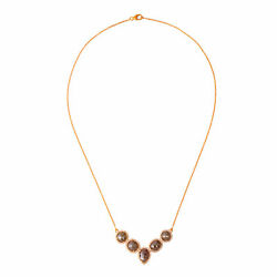 Natural Diamond 18k Yellow Gold Chain Princess Necklace Jewelry For Women Gift