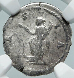 Hadrian Travels To Asia Authentic Ancient 134ad Silver Roman Coin Ngc I86046