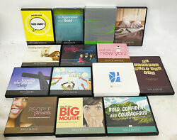 Lot Of 14 Joyce Meyer Dvd And Cd Albums / Sets Christianity Religious Self Help