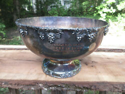 Herald-mail Award Best In Show 1958 Mason Dixon Kennel Club Silver Plate Bowl