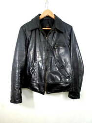 Vintage 1930andrsquos 1940and039s Hercules Leather Jacket Horsehide Chinst Size 38 40 Rare