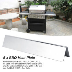 5pcs Gas Barbecue Grill Heat Plate Shield Replacement Bbq Stove Repair Part Kit