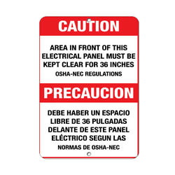 Vertical Metal Sign Multiple Sizes Front This Electrical Panel Clear 36 Inches