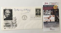 Bernard Montgomery Signed Autographed First Day Cover Jsa Cert Field Marshall
