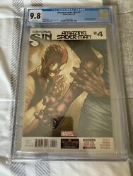 Amazing Spiderman 4 1st Cindy Moon Silk CGC 9.8 1st Print Marvel 2014 Disney