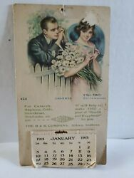 1915 Calendar Advertisement For The H And H Company H And H Balm Attica Indiana