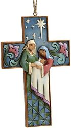 Heartwood Creek Holy Family Cross Hanging Ornament By Jim Shore, New, 4055129
